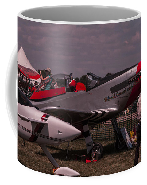 P-51 Coffee Mug featuring the photograph Blood Sweat And Years by Scott Perkins