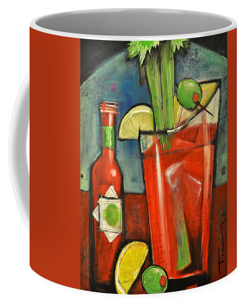 Bloody Mary Coffee Mug featuring the painting Bloody Mary by Tim Nyberg