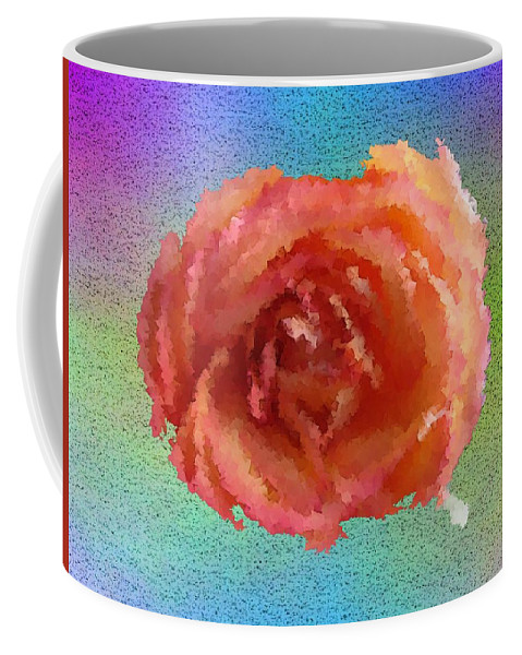 Abstract Coffee Mug featuring the digital art Blooming 4 by Tim Allen