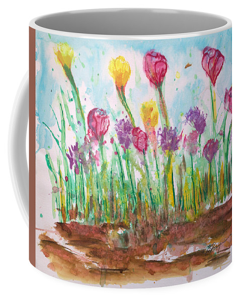Flowers Coffee Mug featuring the painting Blooming Colors by J R Seymour