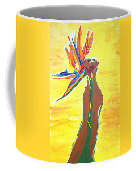 Blooming Coffee Mug featuring the painting Blooming by Rachel Natalie Rawlins