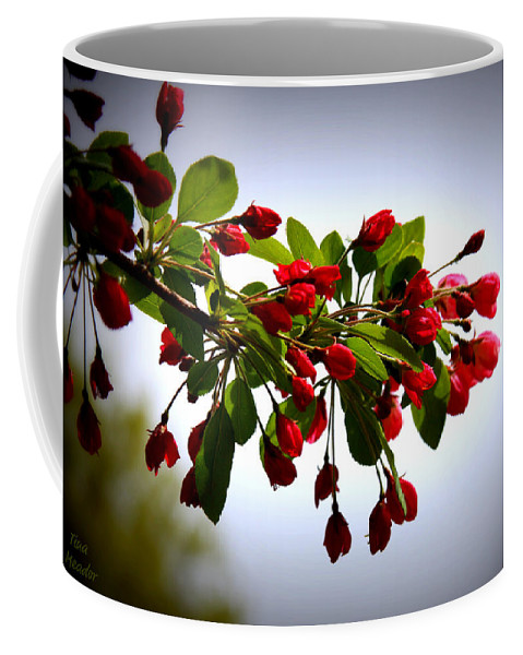 Blossoms Coffee Mug featuring the digital art Blossoms by Tina Meador