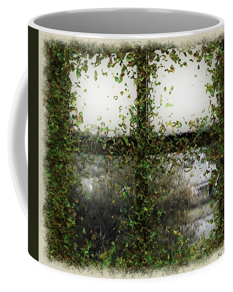 Window Coffee Mug featuring the painting Blotted Out by RC DeWinter