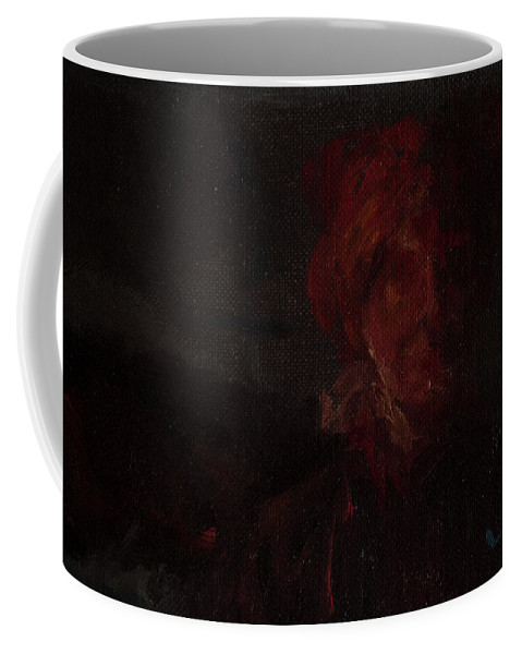 Portrait Coffee Mug featuring the painting Blown by Lynne Guess