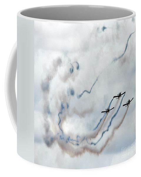 Blue Coffee Mug featuring the photograph Blue And White Washes by Angel Ciesniarska