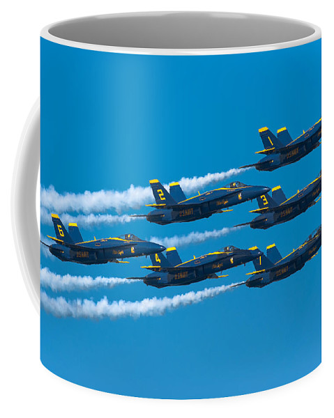 Us Navy Coffee Mug featuring the photograph Blue Angels by Sebastian Musial