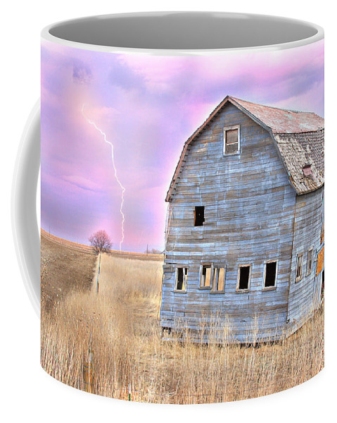 Barns Coffee Mug featuring the photograph Blue Barn by James BO Insogna