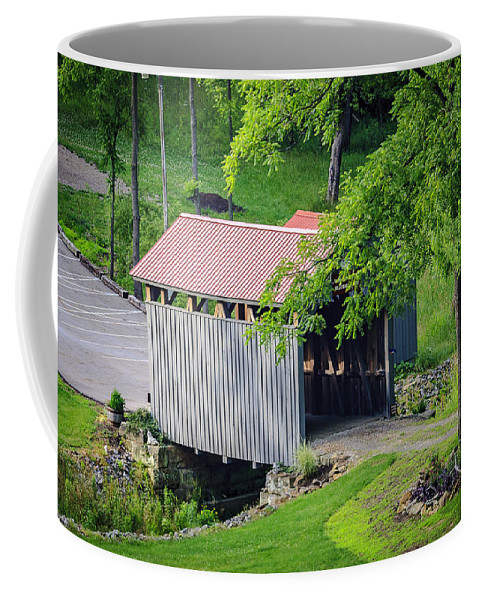 America Coffee Mug featuring the photograph Blue Bird Farm by Jack R Perry
