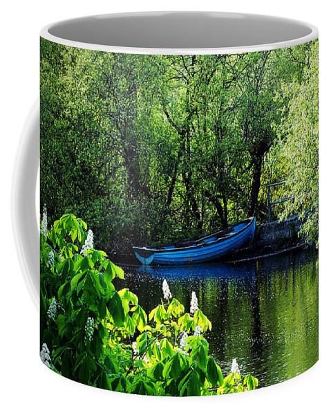 Irish Coffee Mug featuring the photograph Blue Boat Cong Ireland by Teresa Mucha