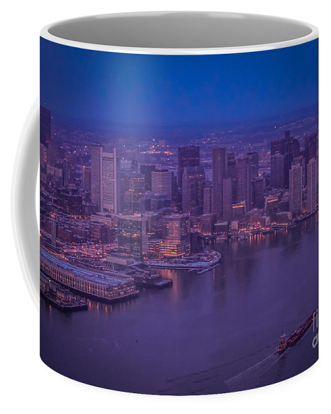 New England Coffee Mug featuring the photograph Blue Boston 1 by Claudia M Photography