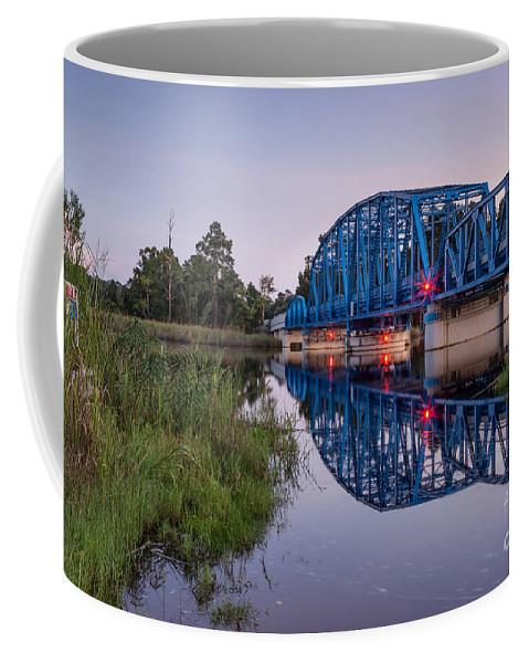 Blue Bridge Coffee Mug featuring the photograph Blue Bridge Over The St. Marys River Kingsland, Georgia by Dawna Moore Photography