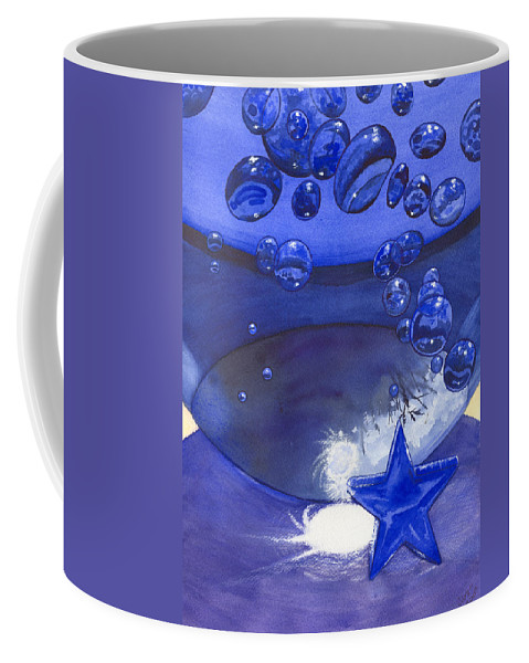 Blue Coffee Mug featuring the painting Blue by Catherine G McElroy