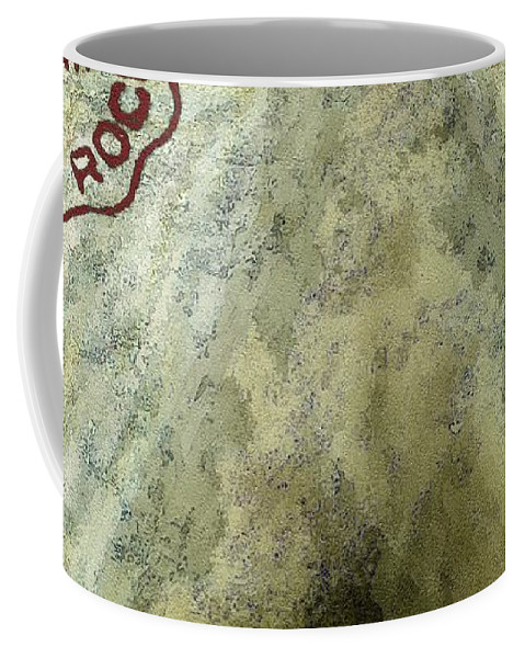 Blue Cheese Coffee Mug featuring the painting Blue Cheese Wheel by RC DeWinter