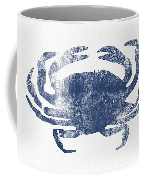 Crab Coffee Mug featuring the painting Blue Crab- Art By Linda Woods by Linda Woods