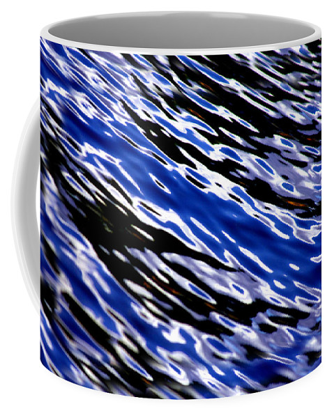 Water Coffee Mug featuring the photograph Blue Current by Donna Blackhall