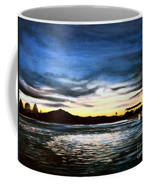 Landscape Coffee Mug featuring the painting Blue Diablo by Elizabeth Robinette Tyndall