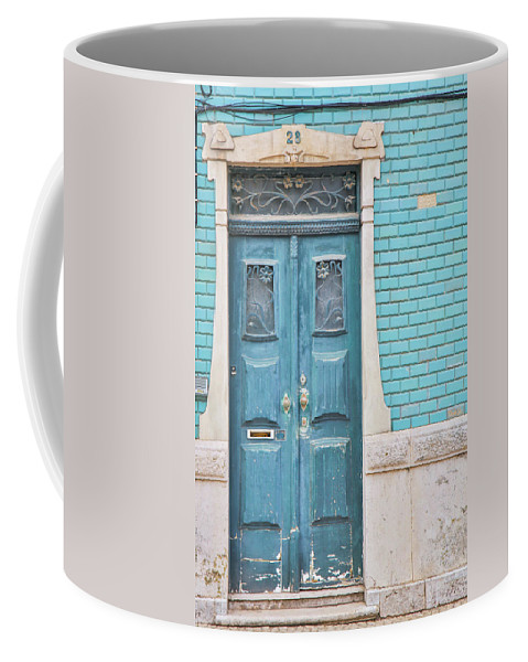Portugal Coffee Mug featuring the photograph Blue Door, Portugal by Chantelle Flores