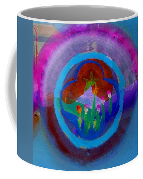 Love Coffee Mug featuring the painting Blue Embrace by Charles Stuart