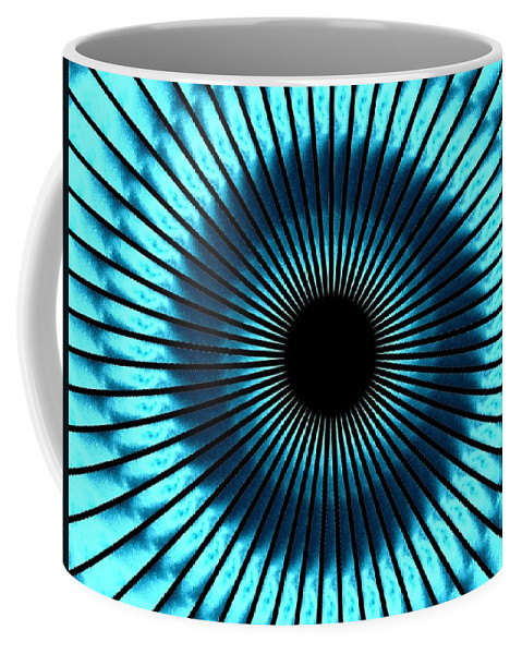 Blue Coffee Mug featuring the digital art Blue Eye by Charleen Treasures