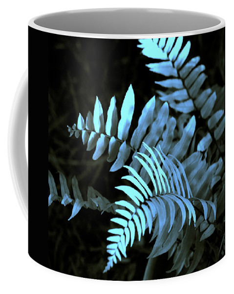 Abstract Coffee Mug featuring the photograph Blue Fern by Susanne Van Hulst