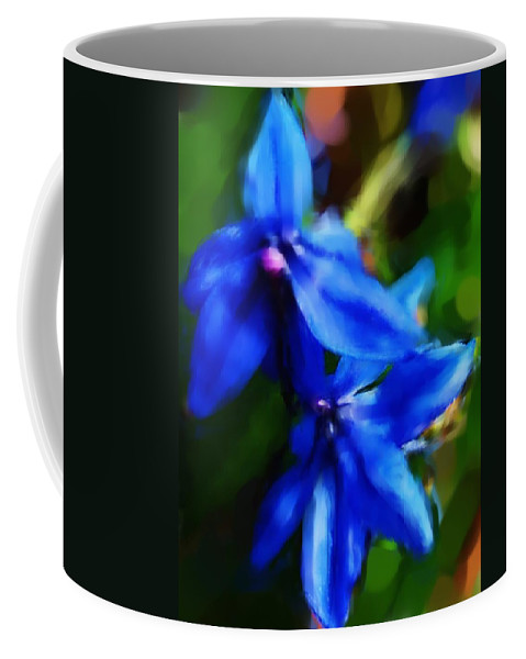 Digital Photograph Coffee Mug featuring the photograph Blue Flower 10-30-09 by David Lane