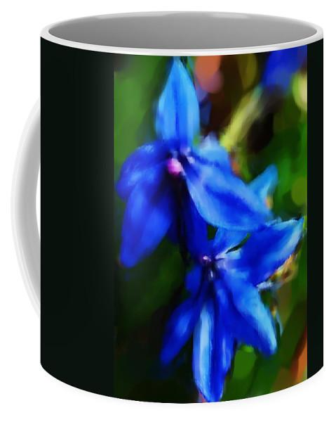 Digital Photograph Coffee Mug featuring the photograph Blue Flower 10-30-09 by David Lane