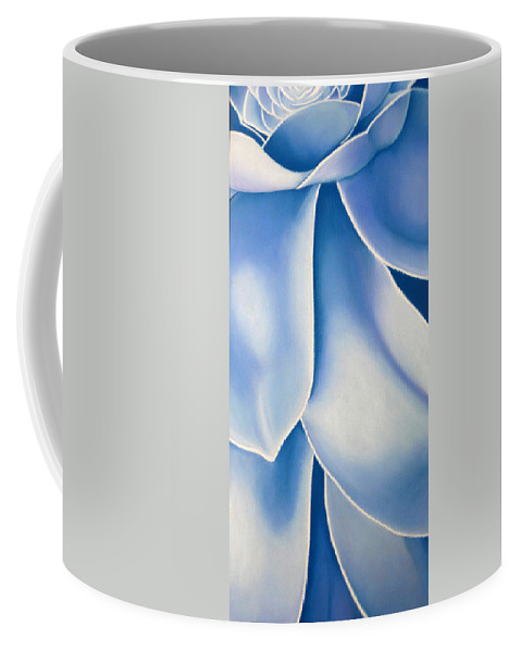 Flowers Coffee Mug featuring the drawing Blue Flower by Joshua Morton