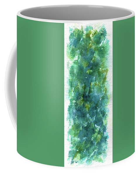 Flower Coffee Mug featuring the painting Blue Flower by Rachel Christine Nowicki