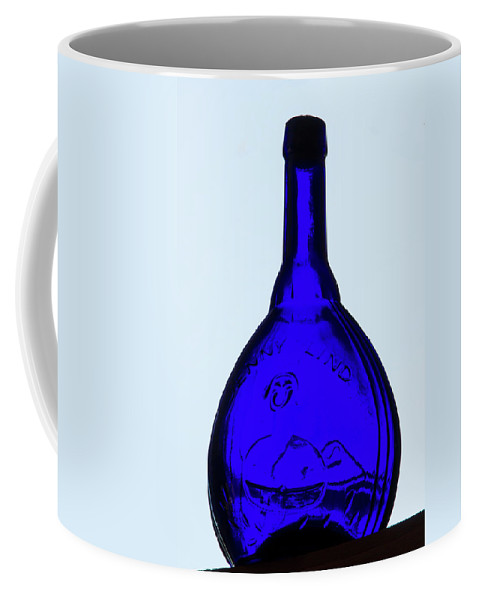 Glass Coffee Mug featuring the photograph Blue Ginny by Guy Shultz