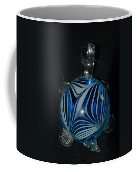 Glass Coffee Mug featuring the photograph Blue Glass Turtle by Rob Hans