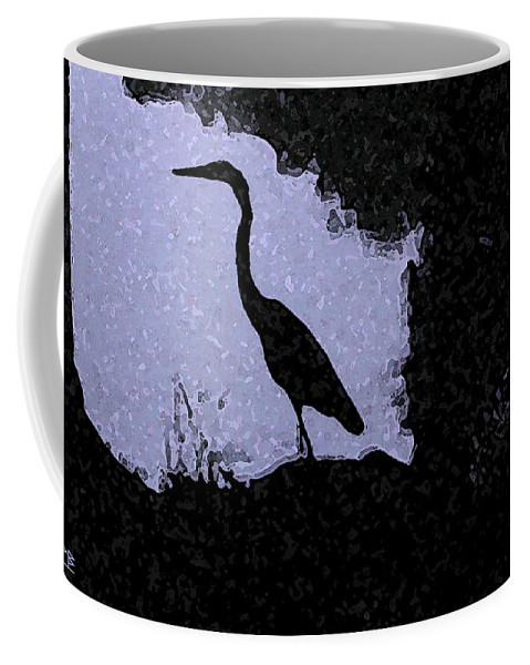 The Artist Has Prints Available On Both Canvas And Watercolor Paper. There Is A Framed Watercolor Paper Print Available Coffee Mug featuring the photograph Blue Heron by Patricia Bolgosano
