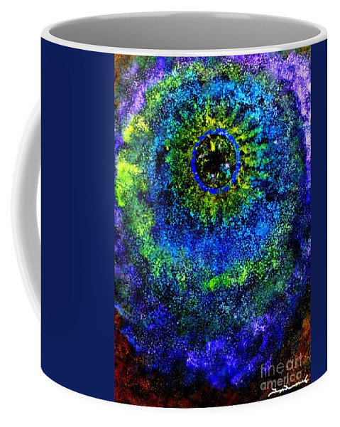 Blue Hole Coffee Mug featuring the painting Blue Hole by Tim Townsend