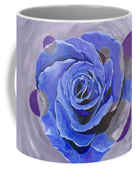 Acrylic Coffee Mug featuring the painting Blue Ice by Herschel Fall