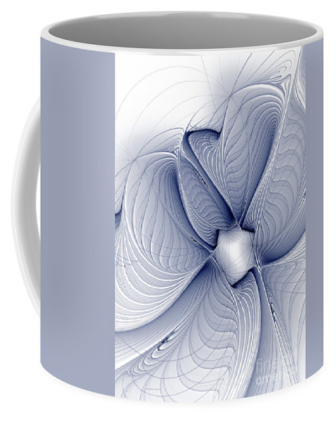 Digital Coffee Mug featuring the digital art Blue Invert by Deborah Benoit