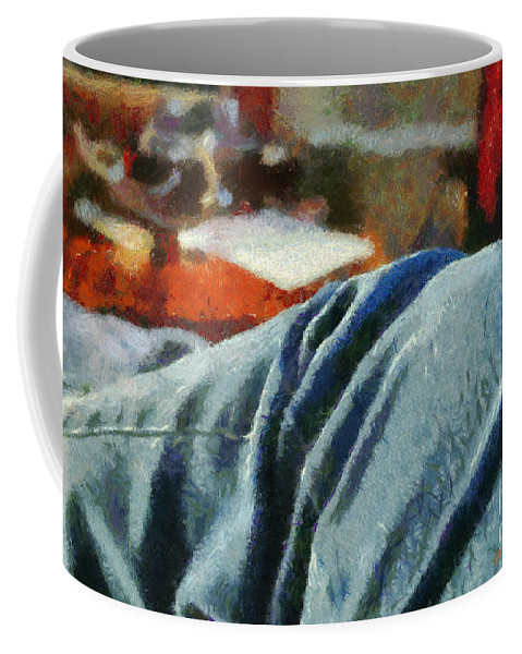 Painting Coffee Mug featuring the painting Blue Jean Morning by Paulette B Wright
