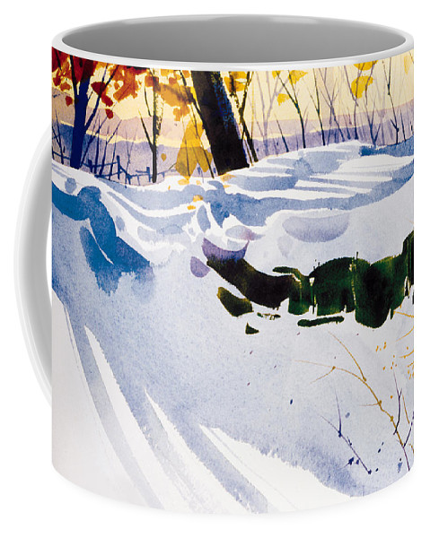 Snow Coffee Mug featuring the painting Blue Joy by Lee Klingenberg