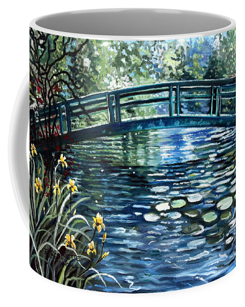 Impressionistic Coffee Mug featuring the painting Blue Lagoon by Elizabeth Robinette Tyndall