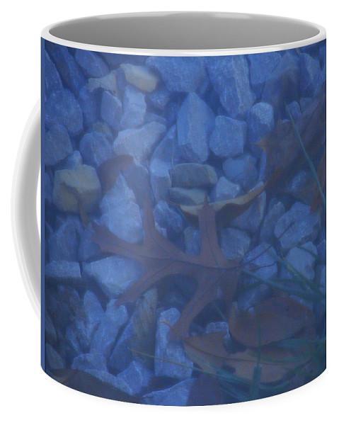 Coffee Mug featuring the photograph Blue Leaf by Luciana Seymour