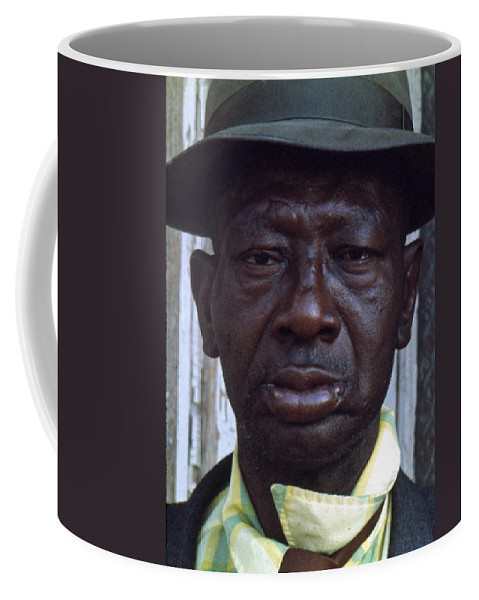 Portrait Coffee Mug featuring the photograph Blue by Lee Santa