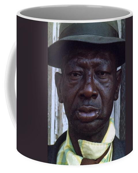 Portrait Coffee Mug featuring the photograph Blue by Lee Santa