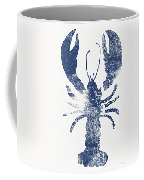 Cape Cod Coffee Mug featuring the painting Blue Lobster- Art by Linda Woods by Linda Woods