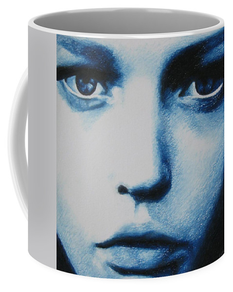 Girl Coffee Mug featuring the painting Blue by Lynet McDonald