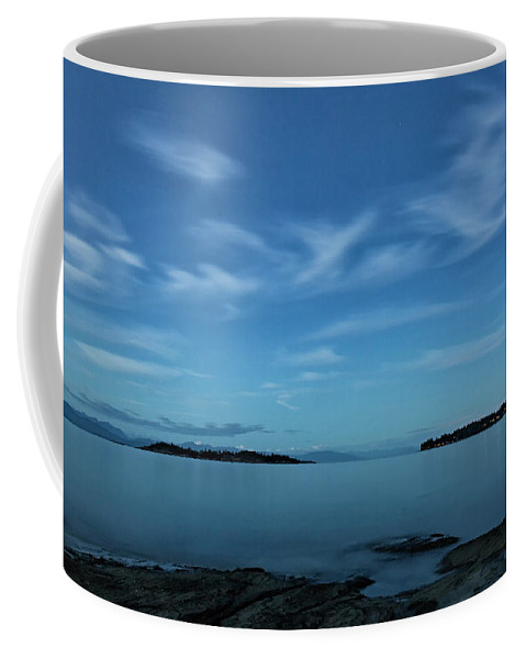 Water Coffee Mug featuring the photograph Blue Madrona by Randy Hall