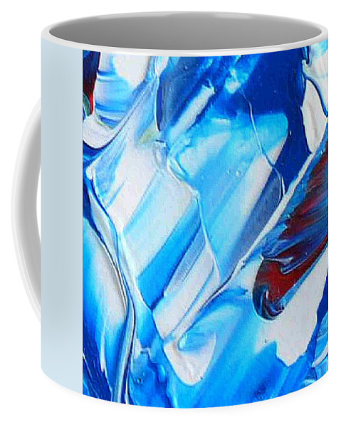 Blue Mode Coffee Mug featuring the painting blue mode I by Dragica Micki Fortuna
