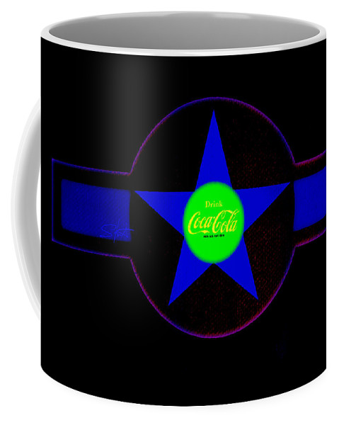 Label Coffee Mug featuring the painting Blue Mood by Charles Stuart