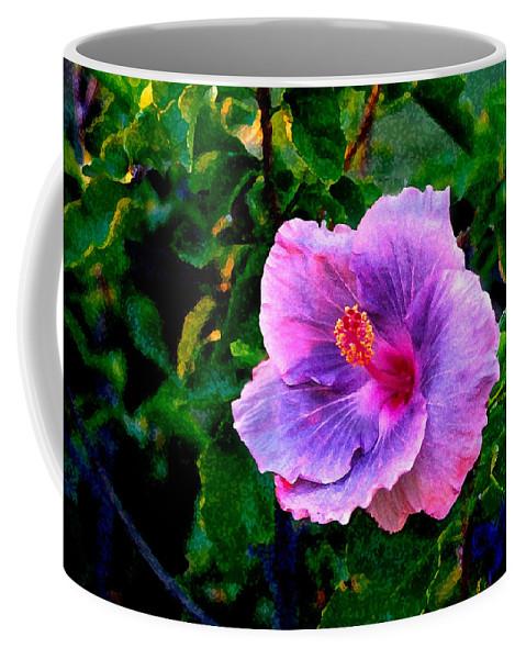 Flower Coffee Mug featuring the photograph Blue Moon Hibiscus by Steve Karol