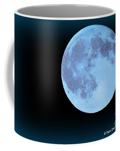 Blue Moon Coffee Mug featuring the photograph Blue Moonshine by Tami Quigley