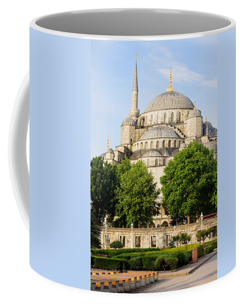 Mosque Coffee Mug featuring the photograph Blue Mosque by Artur Bogacki