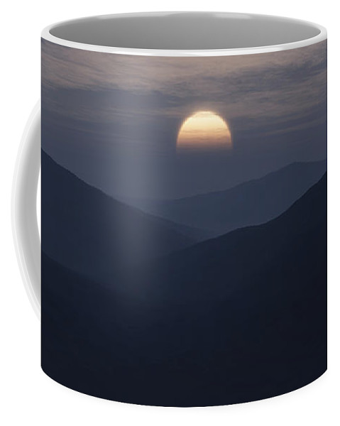 Mountains Coffee Mug featuring the digital art Blue Mountains by Richard Rizzo