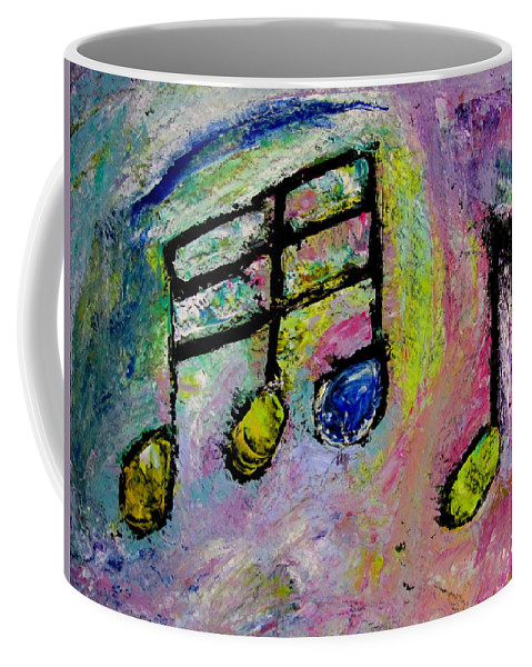 Impressionist Coffee Mug featuring the painting Blue Note by Anita Burgermeister